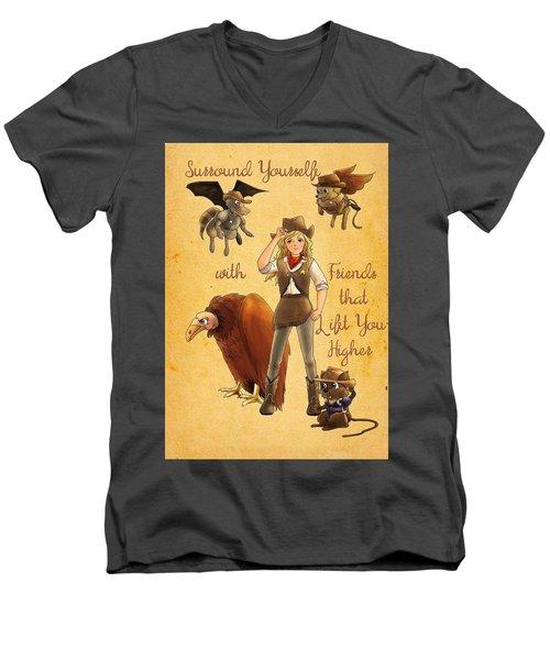 Friends That Lift Men's V-Neck T-Shirt