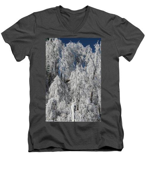 Frosted Trees Men's V-Neck T-Shirt