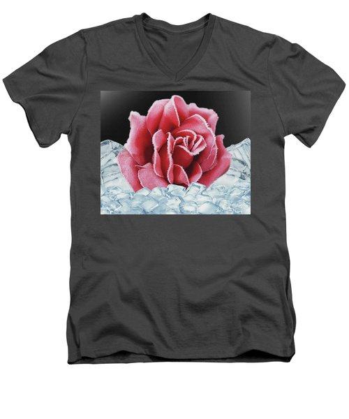 Frozen Rose Men's V-Neck T-Shirt