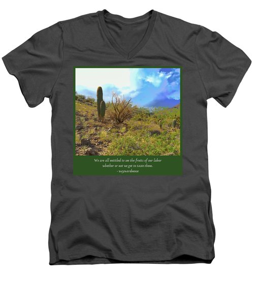Men's V-Neck T-Shirt featuring the photograph Fruits Of Our Labor by Judy Kennedy
