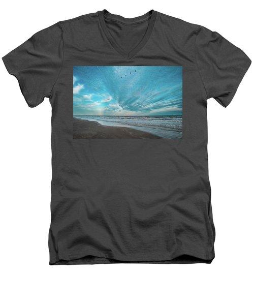 Galveston Island First Light Men's V-Neck T-Shirt