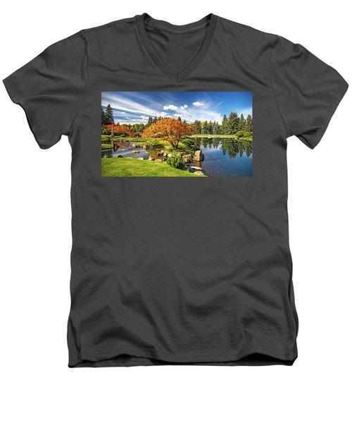 Garden Splendour Men's V-Neck T-Shirt