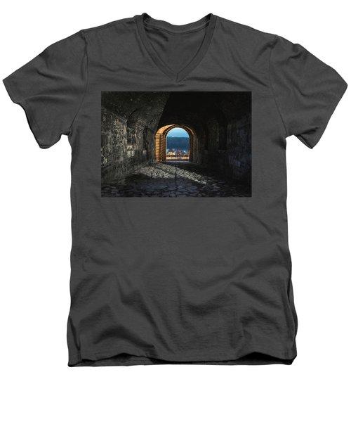 Gate At Kalemegdan Fortress, Belgrade Men's V-Neck T-Shirt