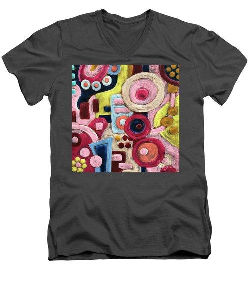 Geometric Abstract 1 Men's V-Neck T-Shirt