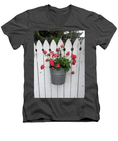 Geranium Gate Men's V-Neck T-Shirt
