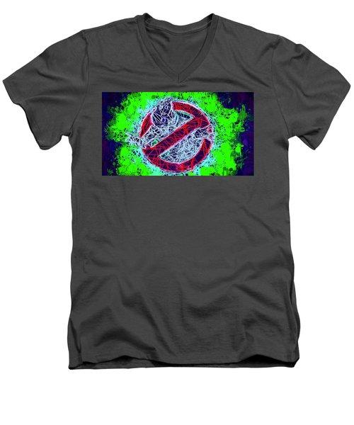 Ghostbusters Logo Men's V-Neck T-Shirt