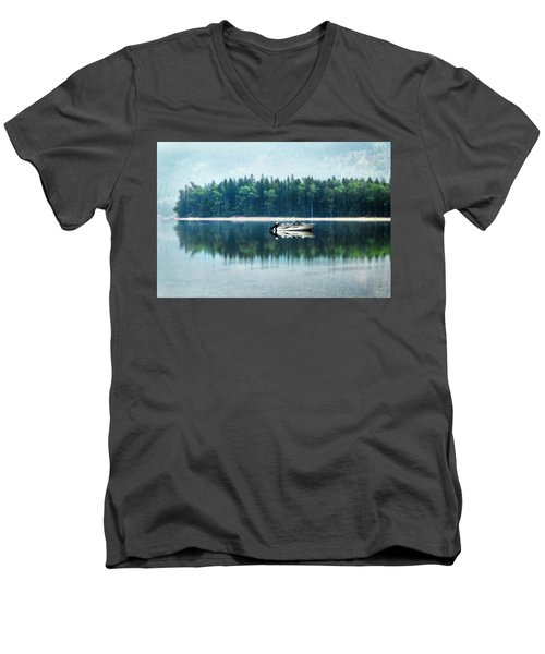 Glacier National Park Lake Reflections Men's V-Neck T-Shirt