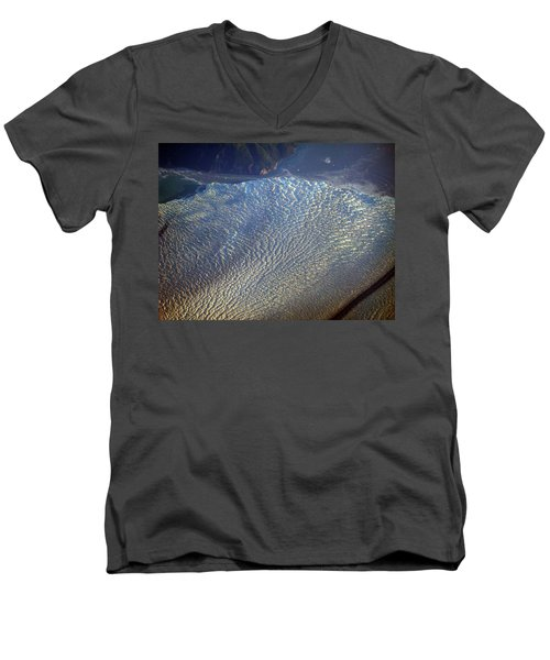 Glacier Texture Men's V-Neck T-Shirt