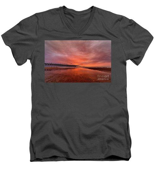 Glowing Sunrise Men's V-Neck T-Shirt