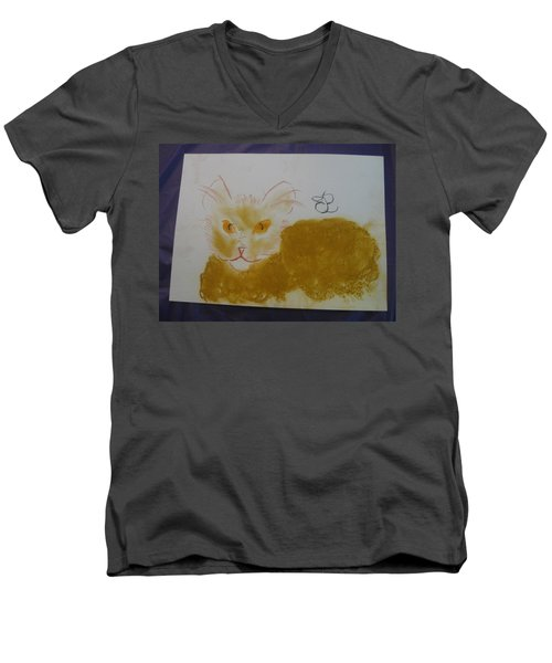 Golden Cat Men's V-Neck T-Shirt