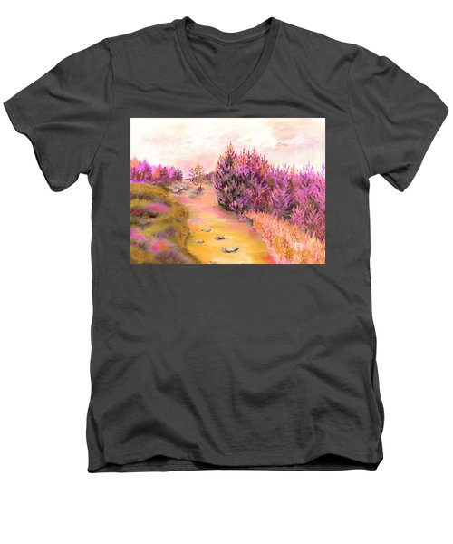 Golden Forest Men's V-Neck T-Shirt