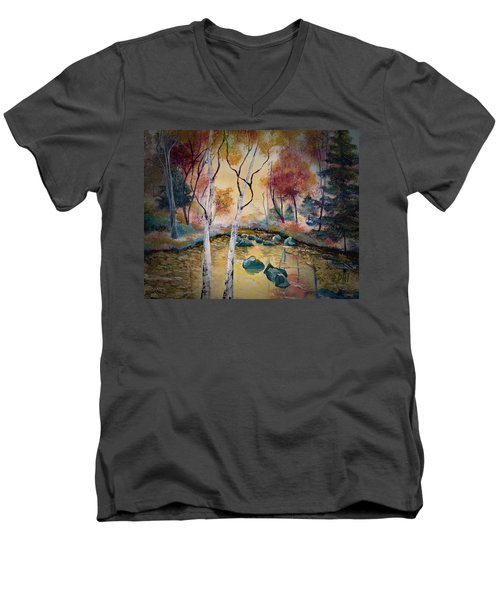Golden Illumination Men's V-Neck T-Shirt