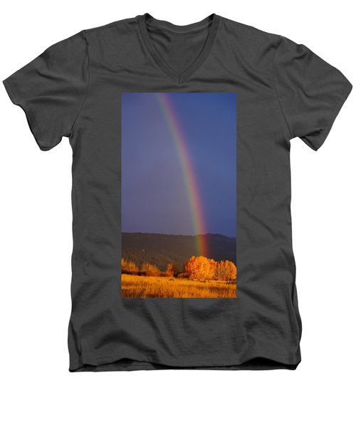 Golden Tree Rainbow Men's V-Neck T-Shirt