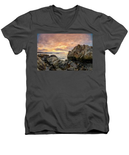 Good Harbor Rock View 1 Men's V-Neck T-Shirt
