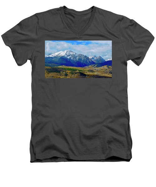 Men's V-Neck T-Shirt featuring the photograph Gore Mountain Range by Dan Miller