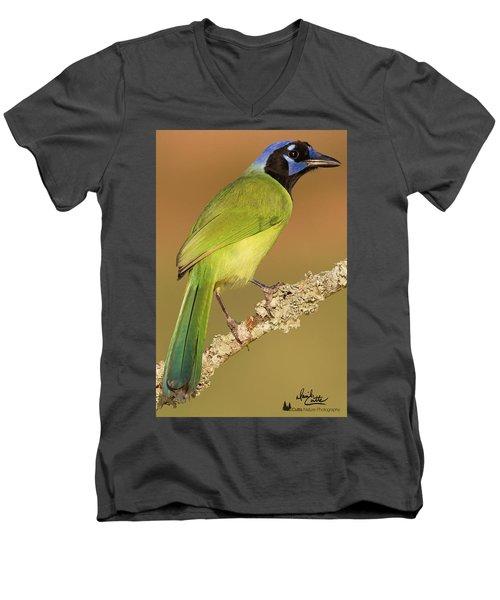 Gorgeous Green Jay Men's V-Neck T-Shirt