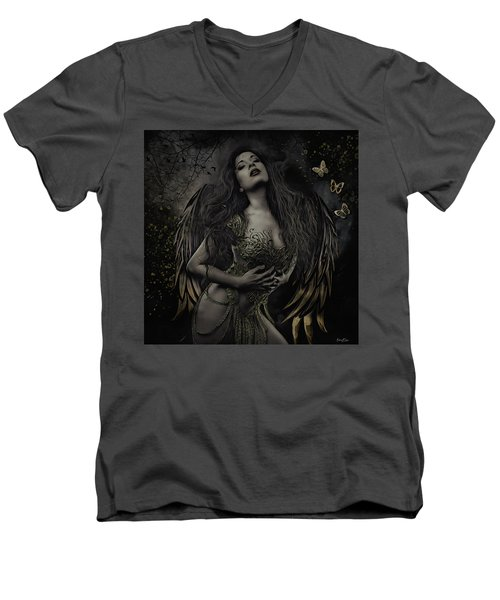 Gothic Angel, Aurelia Men's V-Neck T-Shirt
