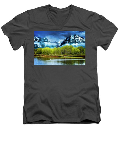 Grand Teton National Park Men's V-Neck T-Shirt