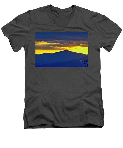 Grandmother Mountain Sunset Men's V-Neck T-Shirt