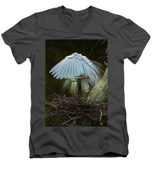 Great Egret Beauty Men's V-Neck T-Shirt
