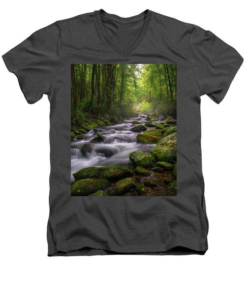 Great Smoky Mountains Gatlinburg Tennessee Men's V-Neck T-Shirt