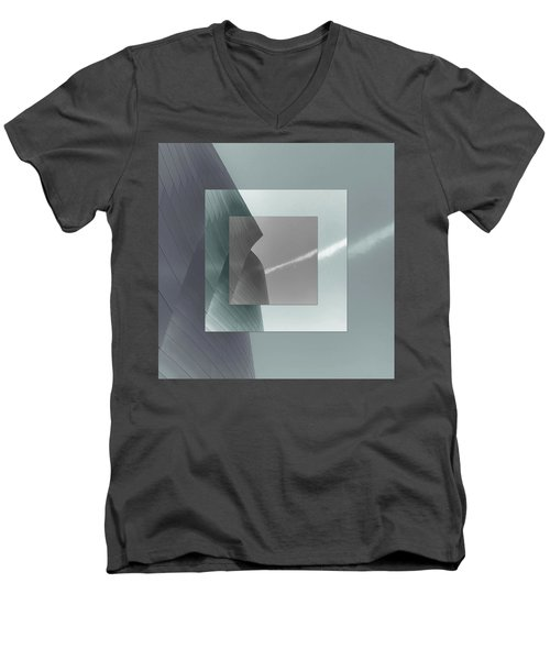 Green Gehry Men's V-Neck T-Shirt