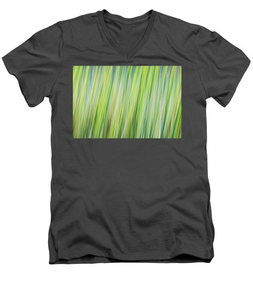 Green Grasses Men's V-Neck T-Shirt
