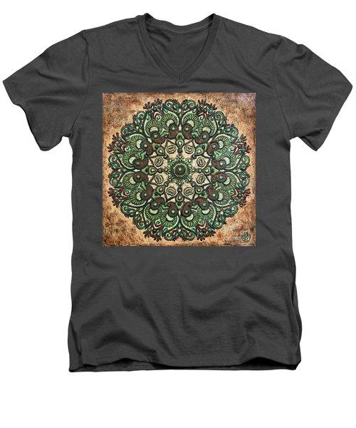 Green Mandala Men's V-Neck T-Shirt