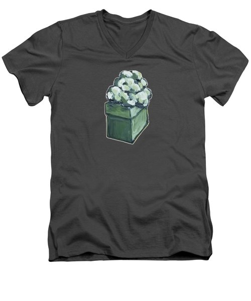 Green Present Men's V-Neck T-Shirt