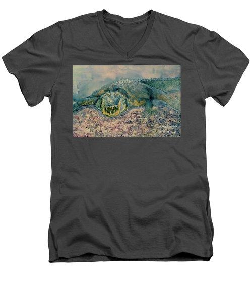 Grinning Gator Men's V-Neck T-Shirt