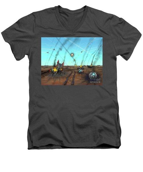 Ground Battle Men's V-Neck T-Shirt