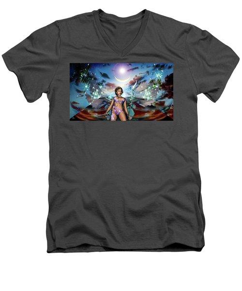 Guarding The Monolith Men's V-Neck T-Shirt
