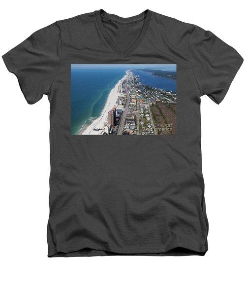 Gulf Shores 7124n Men's V-Neck T-Shirt