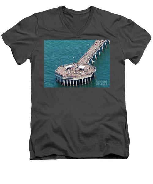 Gulf State Park Pier 7467 Men's V-Neck T-Shirt