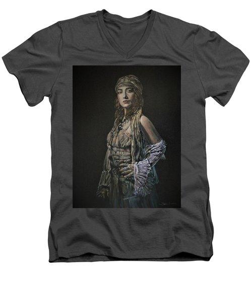 Gypsy Portrait Men's V-Neck T-Shirt