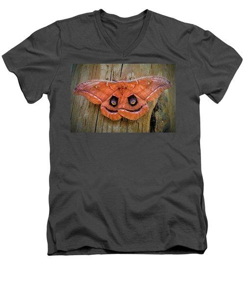 Halloween Moth Men's V-Neck T-Shirt