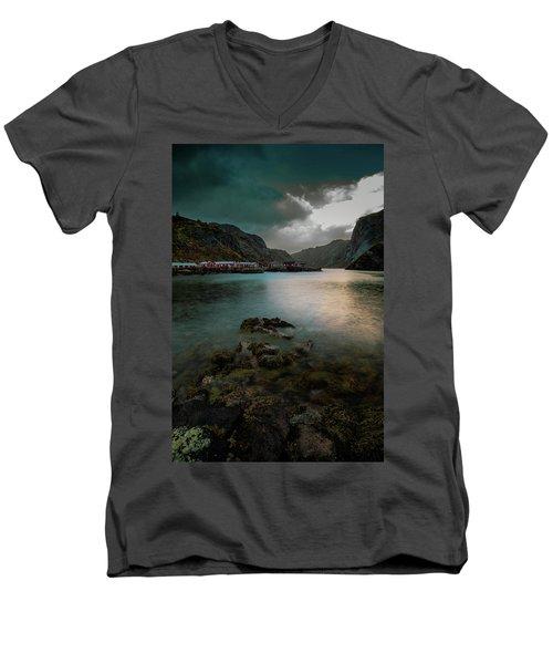 Hamnoy, Lofoten Islands Men's V-Neck T-Shirt