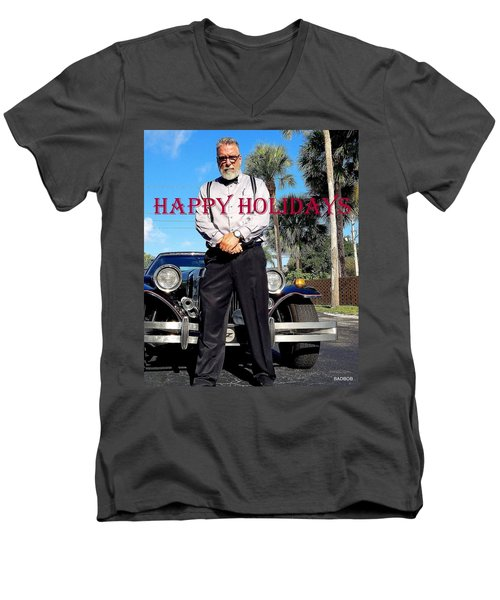 Happy Holidays  Men's V-Neck T-Shirt