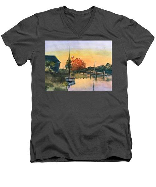 Harthaven Harbor, Mv Men's V-Neck T-Shirt