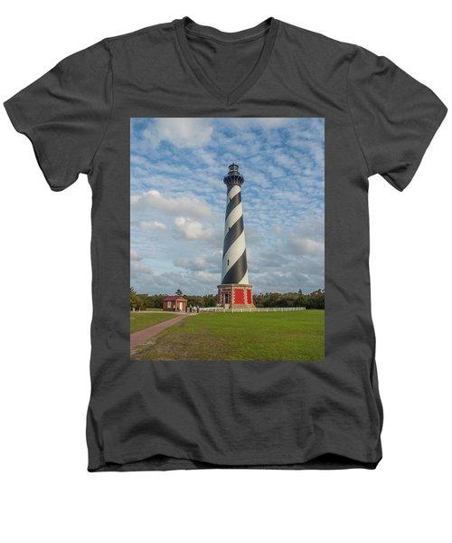 Hatteras Lighthouse Men's V-Neck T-Shirt
