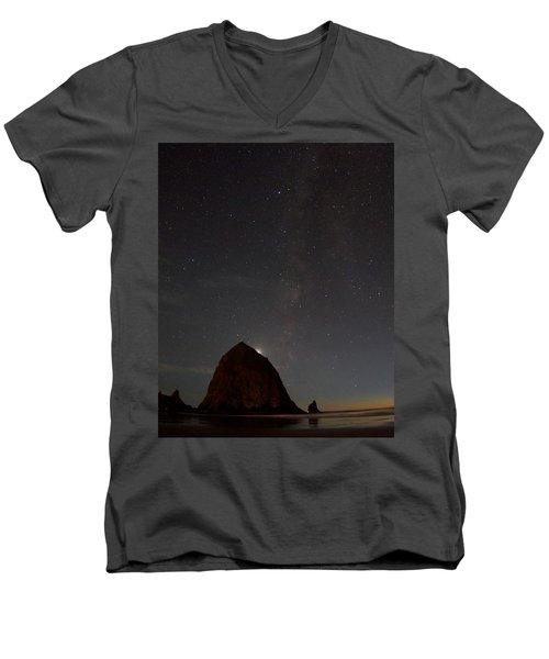 Haystack Night Under The Stars Men's V-Neck T-Shirt