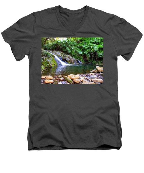 Healing Pool - Maui Hawaii Men's V-Neck T-Shirt