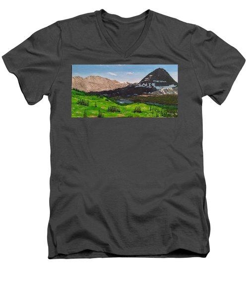 Hidden Lake Pass Men's V-Neck T-Shirt