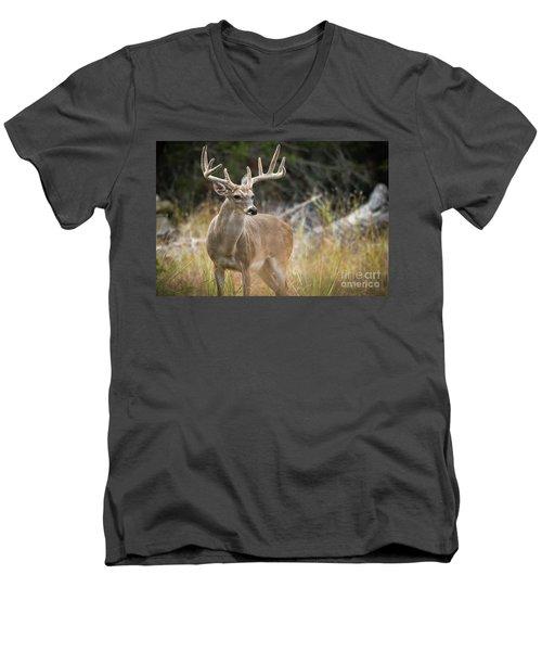 Hill Country Whitetail Men's V-Neck T-Shirt