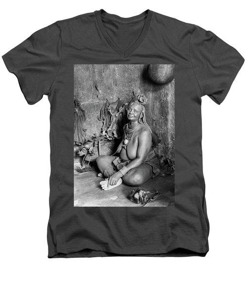 Himba Grand Mother Men's V-Neck T-Shirt