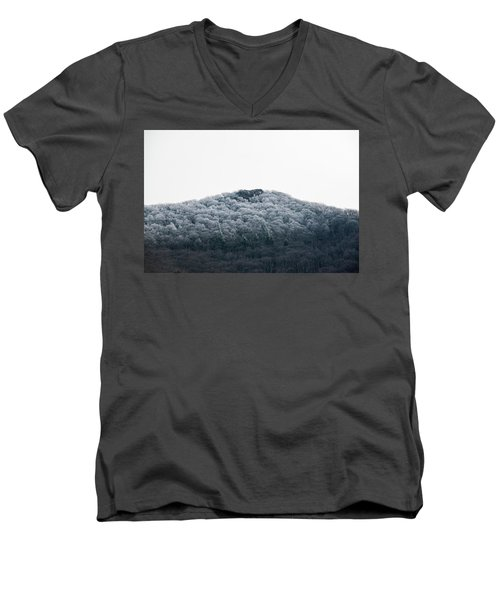 Hoarfrost On The Mountain Men's V-Neck T-Shirt
