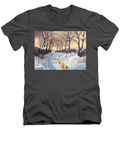 Tunnel In Winter Men's V-Neck T-Shirt
