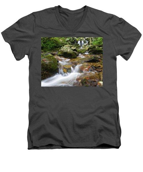 Hogcamp Branch Falls I Men's V-Neck T-Shirt