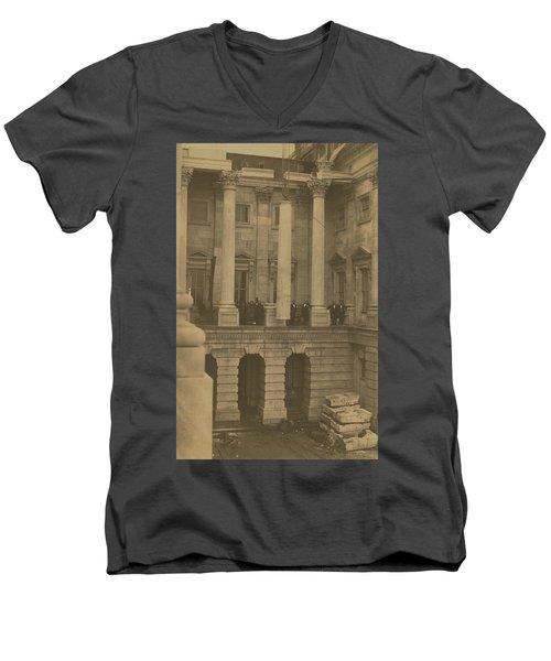 Hoisting Final Marble Column At United States Capitol Men's V-Neck T-Shirt