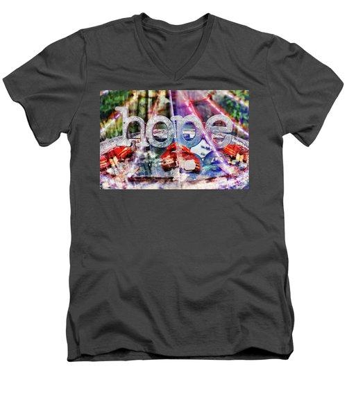 Hopeful Men's V-Neck T-Shirt